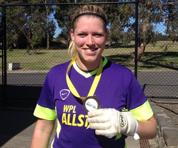 Line Johansen skal den kommende sæson vogte målet for University of Queensland FC i Brisbane.