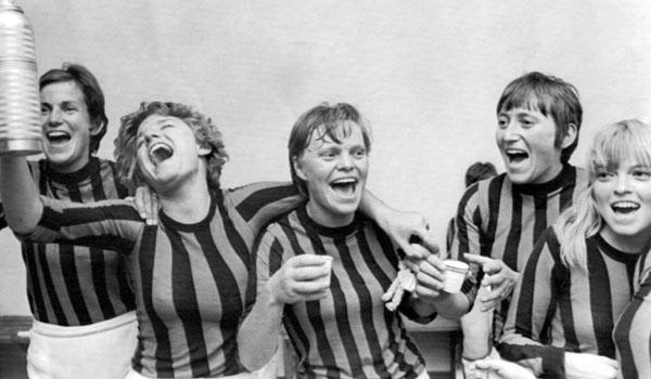 Danmark jubler efter finalesejren over Italien ved VM i 1970.