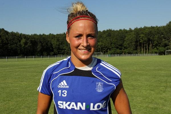 Sanne Troelsgaard scorede det ene af Brøndbys to mål i pokalsejren over Fortuna.