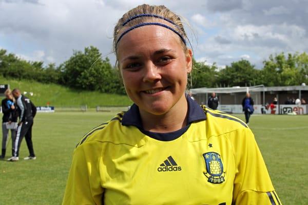 Nanna Christiansen er tilbage i Brøndbytrøjen. Her er hun fotograferet i 2012.